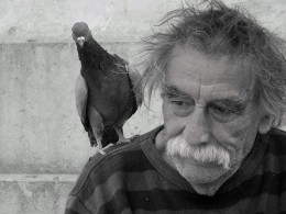 He is known as the pigeonman.