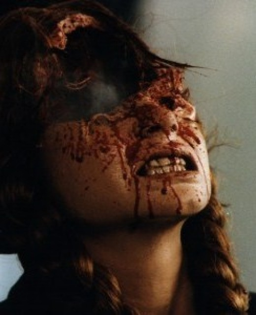 Cool effects, but I bet Fulci couldn't tell you why that happened to that girl. Neither can I.