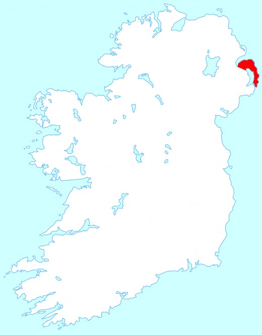 Map location of the Ards Peninsula, Northern Ireland