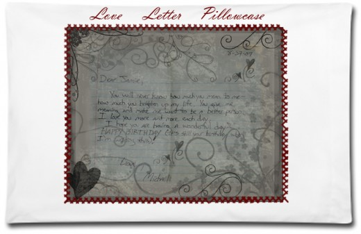 Love Letter Pillowcase