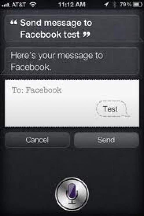 Put Siri to work posting your status updates on Facebook.