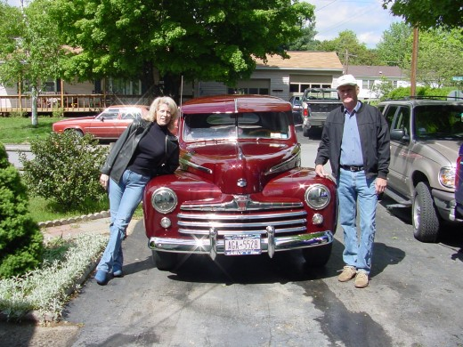 My husband and I with his 1948 Ford.