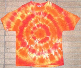 Balinese inspired Tie Dye T-shirts were  popular in the late 60s and early 70s.