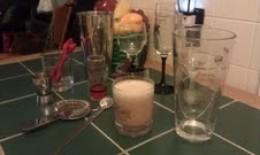 My Irish Cream & my equiptment that I use for drinks