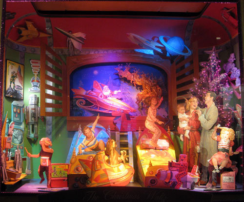 "Bloomingdales' Window Display - Each window is built to illustrate a song on Tony Bennett's 2008 Christmas CD, ""A Swingin' Christmas."""