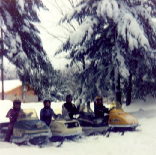 My friends would snowmobile out to Moccasin Lake for visits in the winter circa 1975