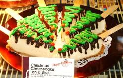 Christmas Cheesecake on a Stick.