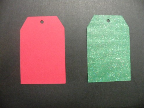 Red and Green cardstock