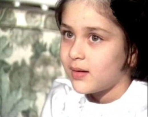 Cute childhood photo of Kareena Kapoor