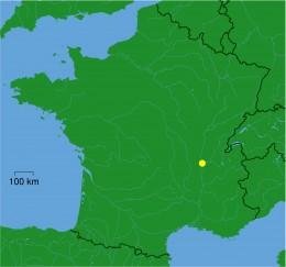 Map location of Lyon, France