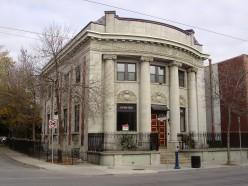 Former branch, Canadian Bank of Commerce, 744 Queen Street East in Toronto, Ontario, Canada