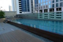 The pool area is very nice with plenty of sun.