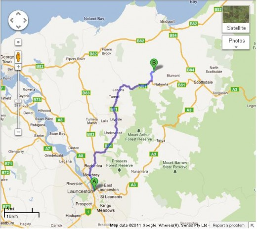 How to get to Bridstowe Estate Lavender farm from Launceston