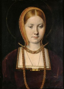 Michel Sittow. Kunsthistorisches Museum, Vienna. A contemporary painting of Catherine of Aragon.