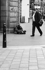 Walking past homeless