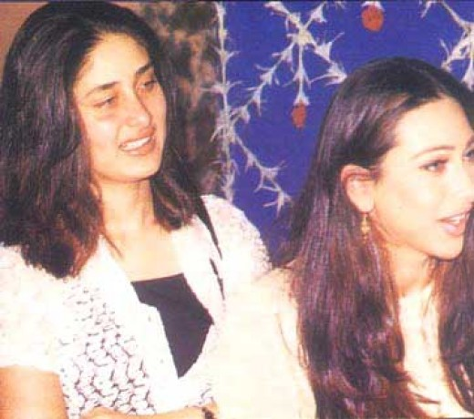 With Sister Karishma Kapoor
