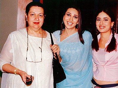 Kareena Kapoor with sister Karishma Kapoor and mother