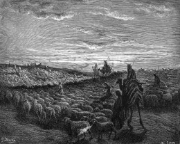 Abraham Journeying into the Land of Canaan / Gustave Doré (1865)