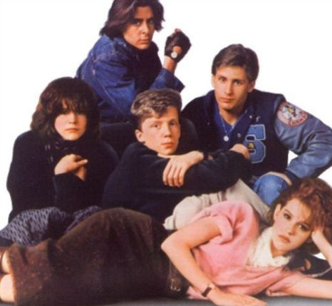 Judd Nelson, Ally Sheedy, Anthony Michael Hall, Emilio Estevez and Molly Ringwald in The Breakfast Club