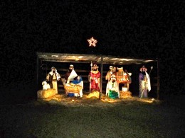 On a knoll in a rolling 5 acre field this display herald's the season.