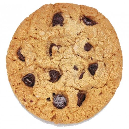 A picture of my chocolate chip cookie.
