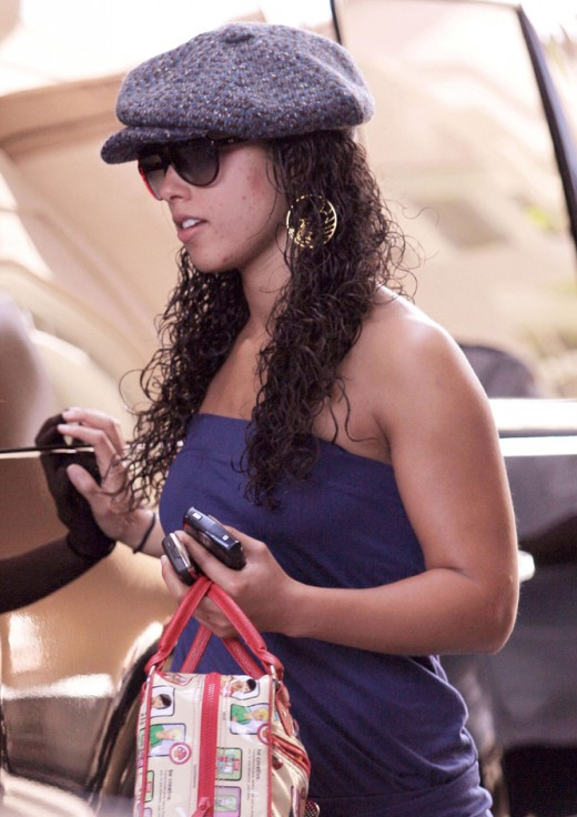 Alicia Keys hairstyle.