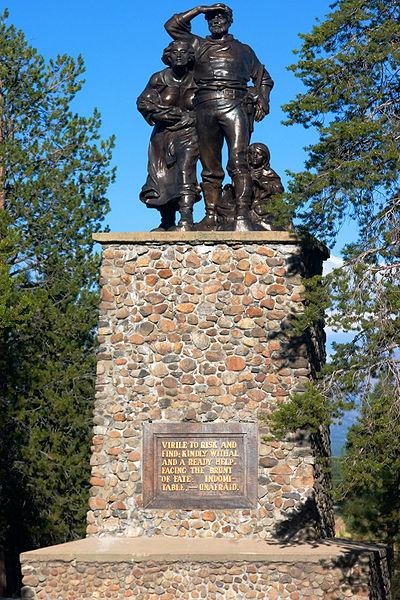 Donner Party Memorial statue: erected in June 1918