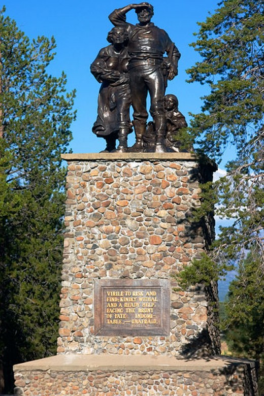 Donner Party Memorial statue: erected in June 1918