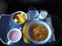 A Peek at Continental Business Class & First Class Food (Photos)