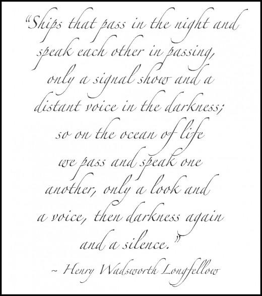 """From """"Tales of a Wayside Inn"""" (1863-1874) Pt. III, 'The Theologian's Tale : Elizabeth', sec.IV"""
