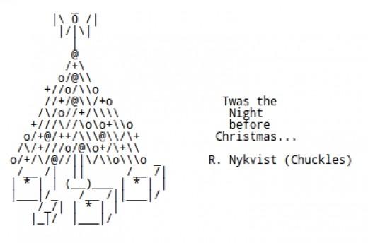 One Line Ascii Art Holidays : Christmas trees in ascii text art holidappy