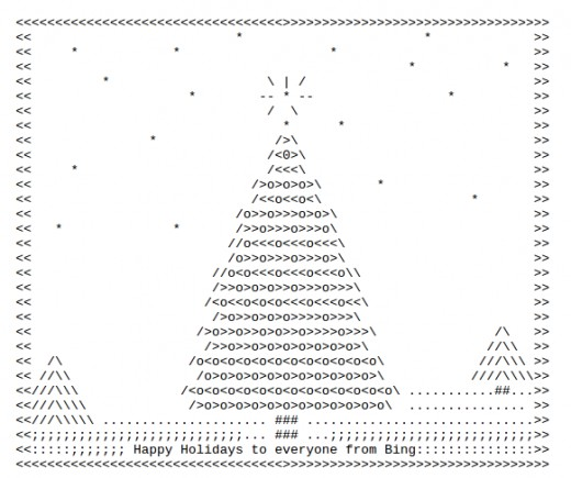 One Line Ascii Art Holidays : Christmas trees in ascii text art holidappy