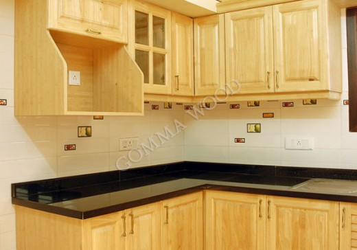 Rubber Wood Kitchen Cabinets - Nagpurentrepreneurs