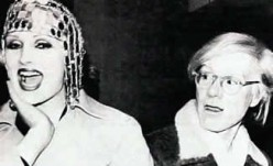 Candy Darling and Andy in 1973