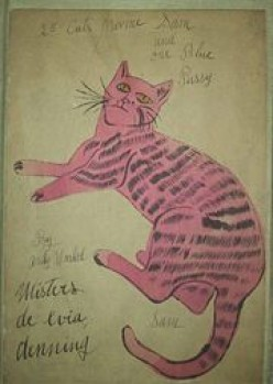 Andy's artwork in 1954