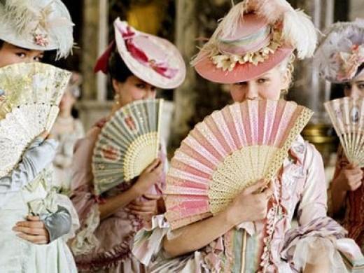 Kirsten Dunst playing Marie Antoinette