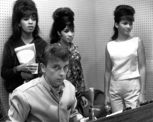 That's her on the left behind Phil Spector...