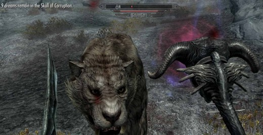 Skyrim Using Skull of Corruption - Giving the Sabretooth Tiger Nightmares