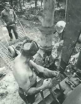 the Triton Alliance Company drilling at the Money Pit, Oak Island