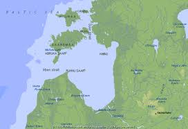 Gulf of Riga where the Dvina flows out toward the Eastern Sea (Baltic)
