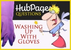 Do you use rubber gloves when doing the dishes?