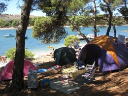 Enjoy a campground scene similar to this one on Lake Palestine in Texas.