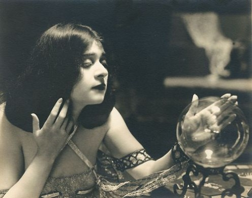 Arm bracelets were popular during the early Art Deco period, seen here on silent film star, Theda Bara
