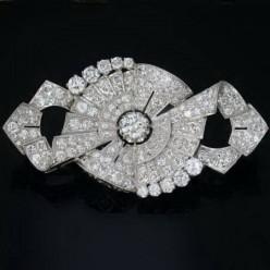 Gorgeous platinum Art Deco brooch from Adin Vintage Jewellery