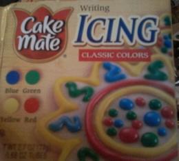 Writing Icing/Icing Tubes