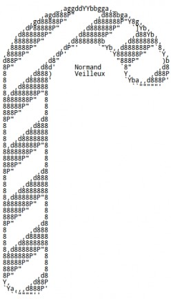 Christmas Candy Canes in ASCII Text Art