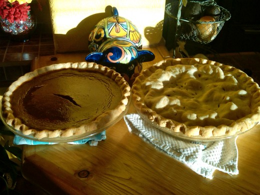 Pumpkin and Apple pies are part of our holiday tradition.
