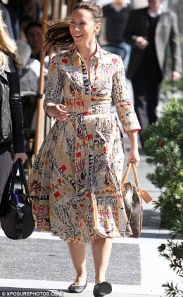 Jennifer Love Hewitt falls victim to a dress.
