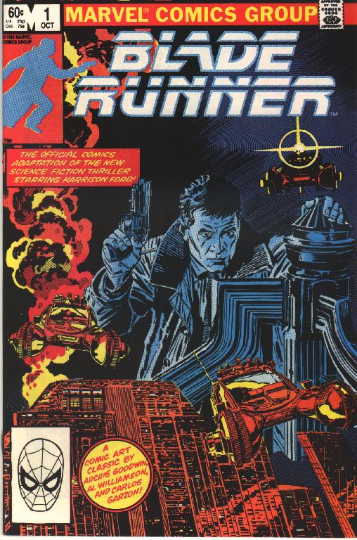 "Marvel Comics adapted ""Blade Runner"" as a two issue mini series in 1982. Art: Al Williamson and Carlos Garzon."