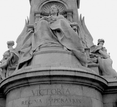Statue of Queen Victoria, at the Victoria Memorial, London